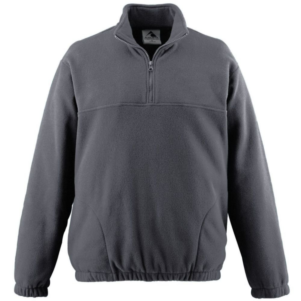 Augusta Activewear Youth Chill Fleece Half-Zip Pillover, Charcoal Heather, Large by Augusta Activewear (Image #1)