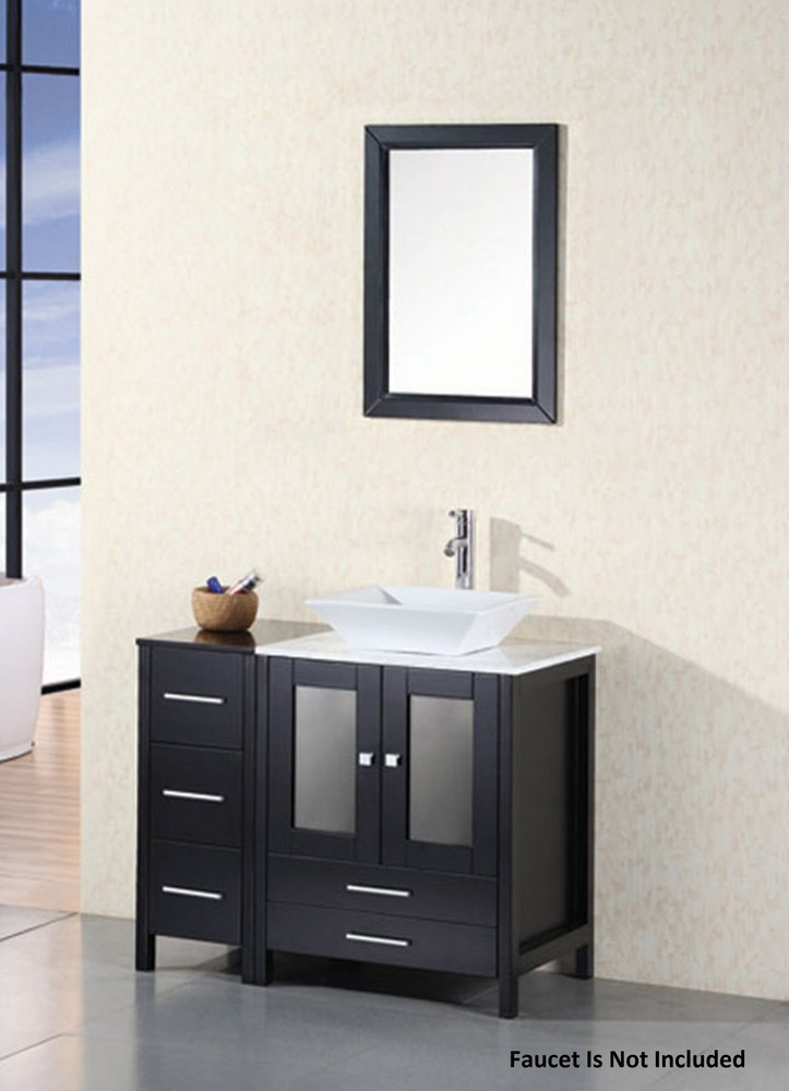 Arlington Espresso Vanity Set w/Single Sink 37'' by Design Element by Design Element