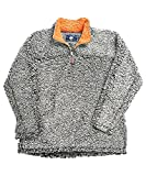 Live Oak Quarter Zip Pullover Fleece-Grey/Melon-small