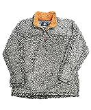 Live Oak Quarter Zip Pullover Fleece-Grey/Melon-medium