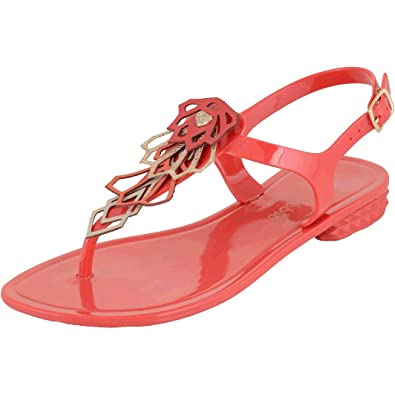 12a348ca6bd4 Mary Pepper 11425201 Women s Coral Jelly Flip-flop Sandal with Studded  Ornament 10-11