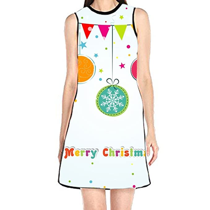99ef80de0e4bf Image Unavailable. Image not available for. Color: Shift Dress Sleeveless  Tank Dresses Christmas ...