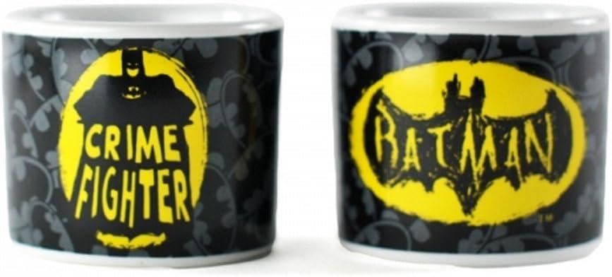 DC Comics Batman – Cerámica Huevera Juego de 2 – Logo + Crime Fighter – Caja de Regalo: Amazon.es: Hogar