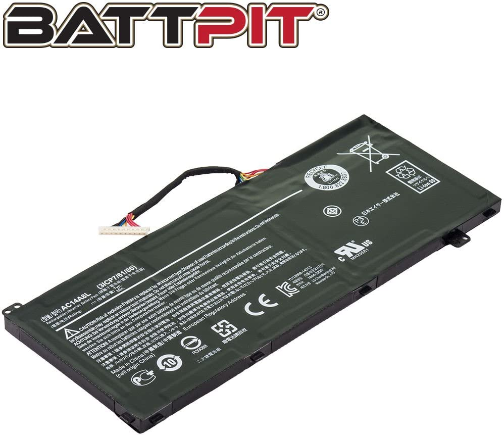 Battpit Laptop Battery For Acer Ac14a8l 3icp7 61 Computers Accessories