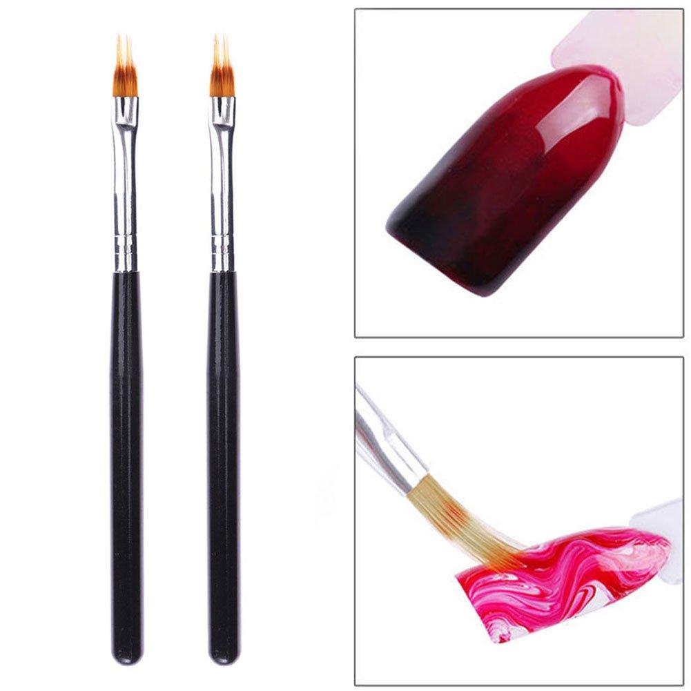 Nail Art Cepillo de pintura de gel UV, lápiz degradado, herramienta de dibujo profesional para manicura de uñas EMVANV