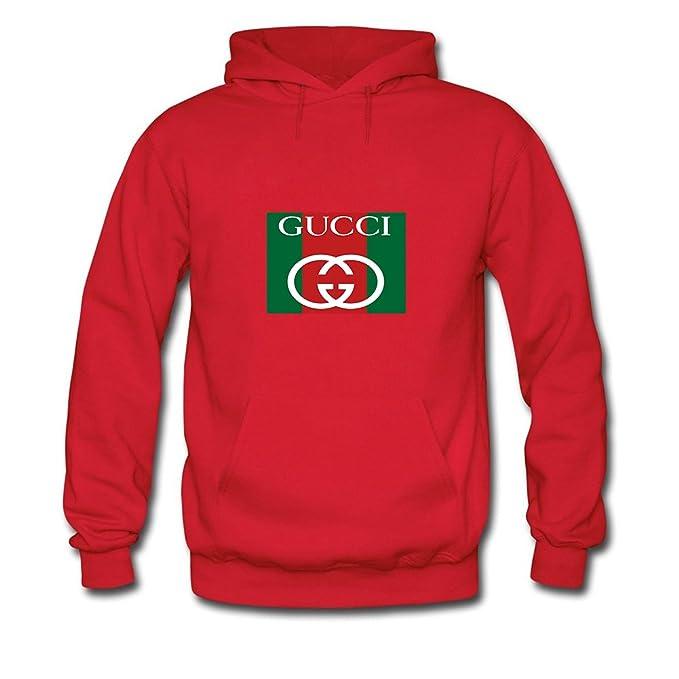 felpa gucci uomo classica  Hot Gucci Hoodies - Felpa con Cappuccio - Uomo Red Small:  ...