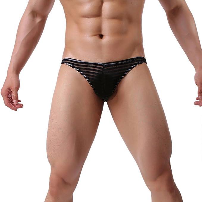 VPASS Calzoncillos Sexy para Hombre Moda Transparente Malla Pack ...