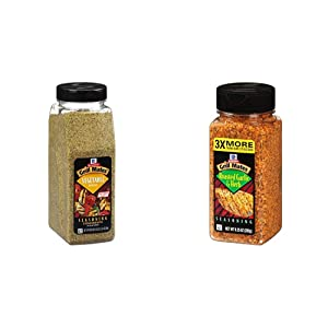 McCormick Grill Mates Vegetable Seasoning, 20 oz & Roasted Garlic & Herb Seasoning, 9.25 Ounce (Pack of 1)