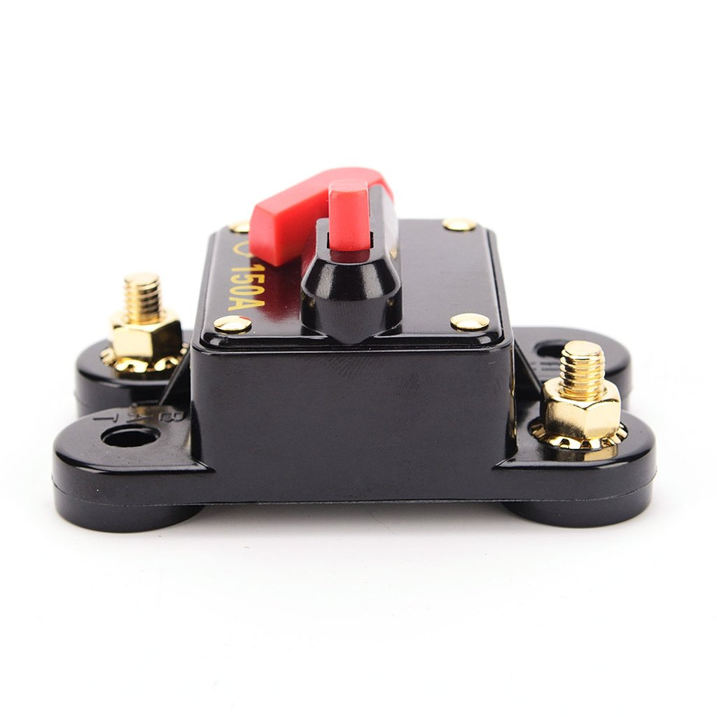Sharplace Automatiksicherung 150 A Sicherungshalter 12 24 Volt PKW Auto KFZ