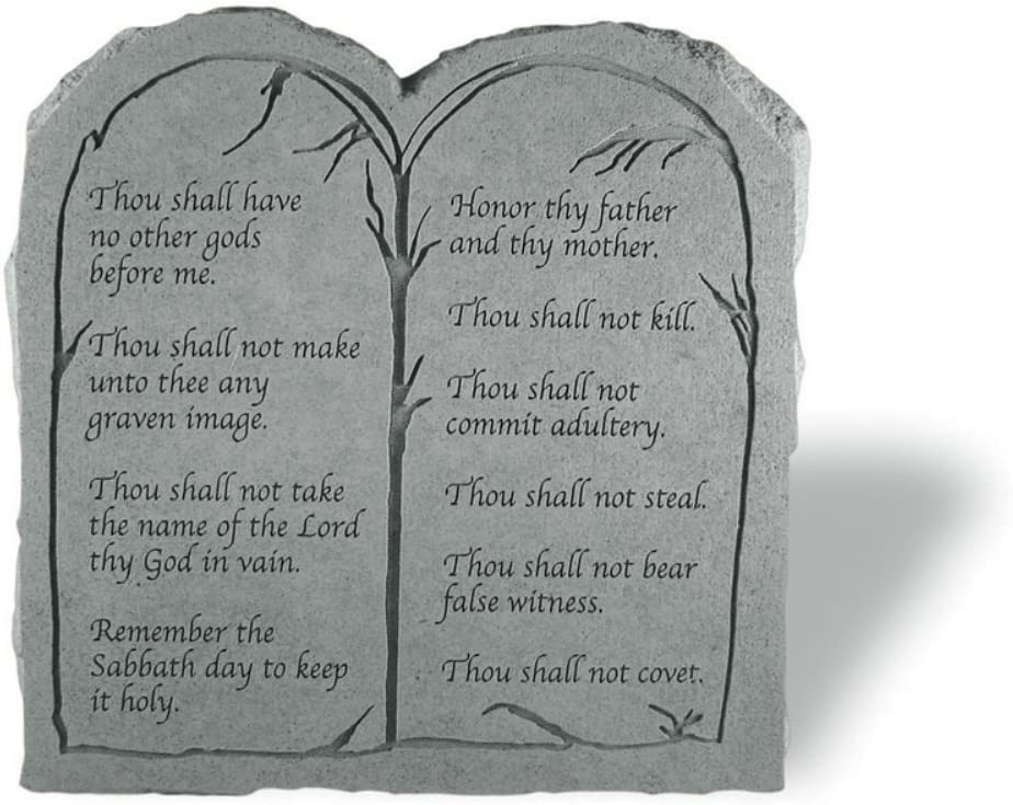 Amazon Com Kay Berry Inc 20311 The Ten Commandments Tablet Memorial 11 Inches X 11 25 Inches Outdoor Decorative Stones Garden Outdoor