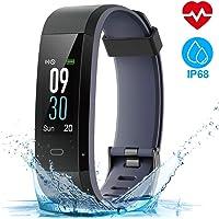 HOMSCAM Fitness Tracker Orologio Fitness Donna Uomo Smartwatch Cardiofrequenzimetro da Polso Schermo a Colori Impermeabile IP68 Braccialetto Fitness Smart Watch per Samsung Huawei Android iOS