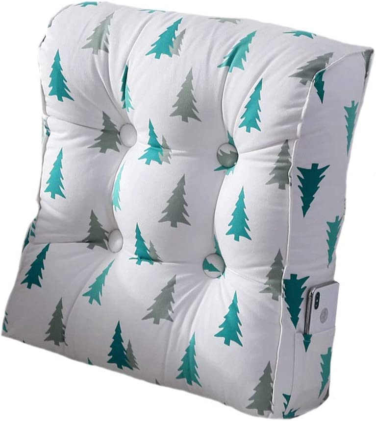 3 Geer Adjustable Back Support Pillow for Bed Sofa Chair with Removable and Washable Cover,Green,45x50x20cm Triangular Wedge Pillow Bed Rest Reading Pillow