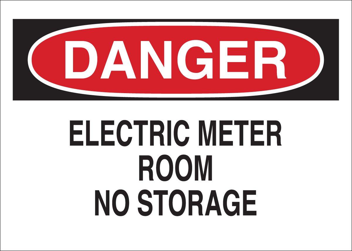 Legend Electric Meter Room No Storage Brady 43104 Aluminum Electrical Hazard Sign 10 X 14