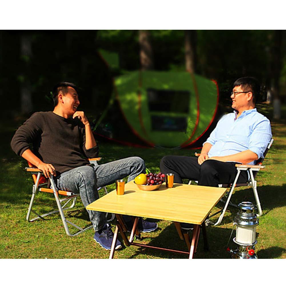 Folding Chair Portable Director Chair Aluminum Beach Chair Fishing Chair Oxford Cloth Camping Outdoor Equipment-Darkbrown