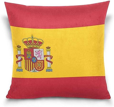 W-wishes España Bandera Throw Pillow Fundas Cojín Cojín Funda de Almohada Decorativa para el hogar para sofá Sofá Cama Silla: Amazon.es: Hogar