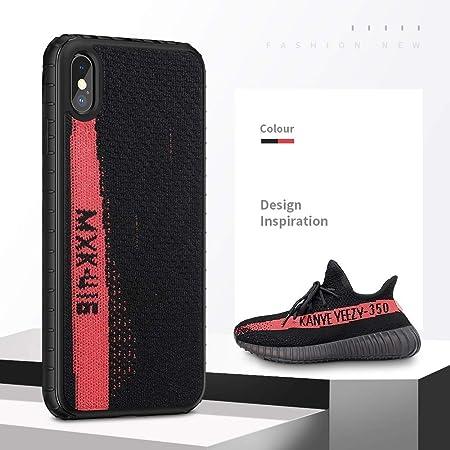 Alvyu Estuche Yeezy de Moda para iPhone XS MAX, PC Duro + Yeezy 350 Zapatillas de Deporte, Funda Protectora Protectora de Deporte para iPhone 6.5 Pulgadas,Black+Red: Amazon.es: Hogar