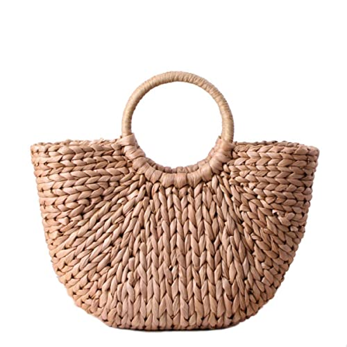 Mini Cute Bolsa de paja grande para mujer Bolsa de hobo Bolsos de tejido Tejido a mano Bolsa de verano Bolsa de playa