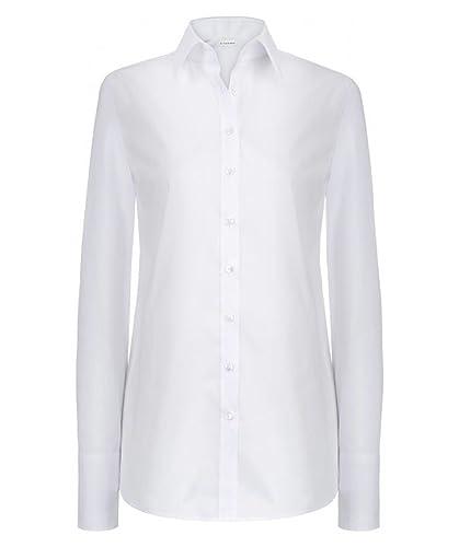 ETERNA Comfort Bluse Langarm Hemdkragen Stretch nachtblau Größe 36