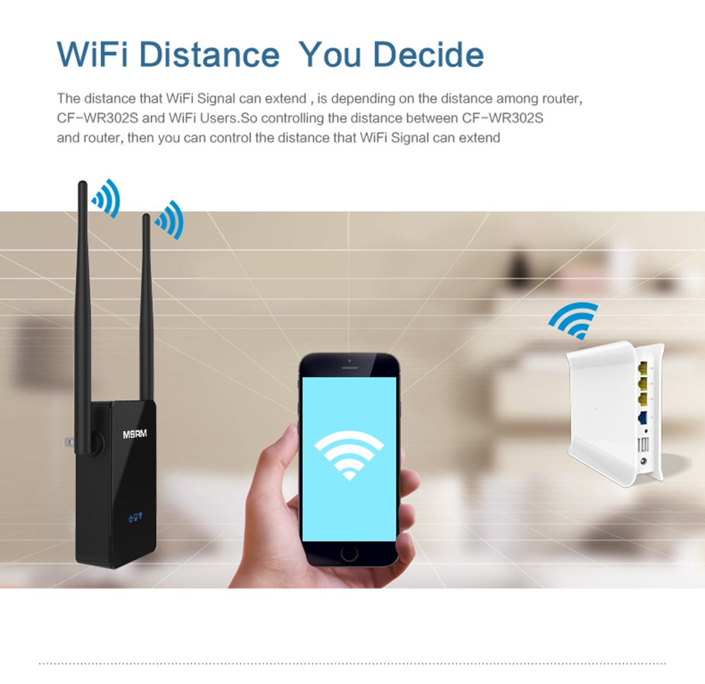 MSRM US302 300Mbps Wifi Range Extender 360 Degree WiFi Covering with Dual Antennas by MSRMUS (Image #5)