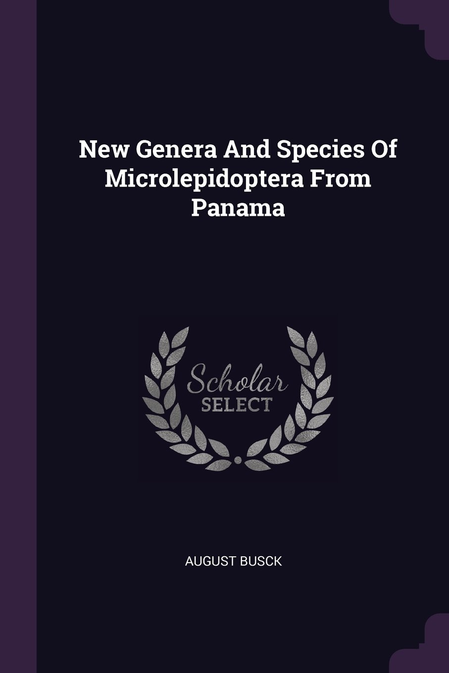 New Genera And Species Of Microlepidoptera From Panama