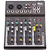 Seismic Audio - Slider4-4 Channel Mixer Console with USB Interface