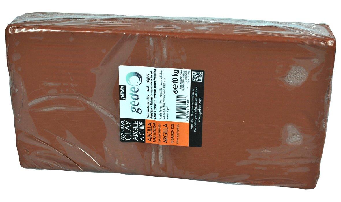 Gedeo Bloc d/'argile /à cuire Rouge 10/kg