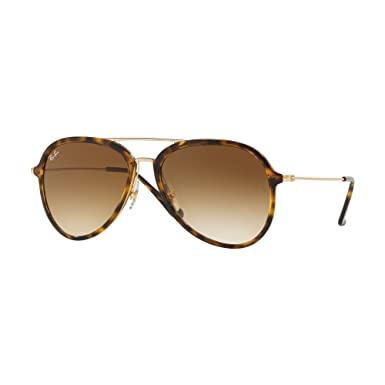 Image Unavailable. Image not available for. Colour  Ray-Ban Contemporary  Pilot Sunglasses in Light Havana Brown Gradient RB4298 710 51 57 c8aa1b3113