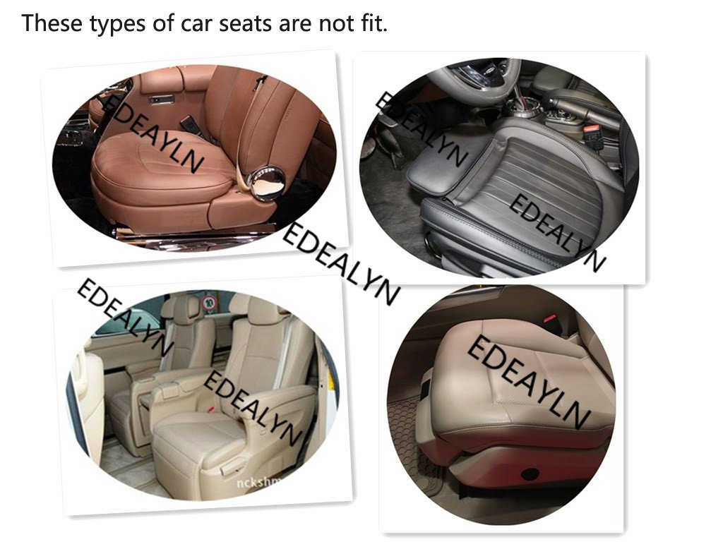 Black-2 PCS Deep20 inch /× Width20 inch /× Thick 0.4 inch EDEALYN 2PCS PU Leather Seat Covers Auto Seat Protector Car Seat Covers for Front Seat with Side Flaps,