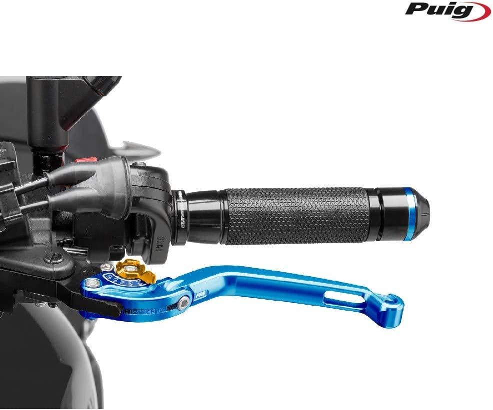 Blue Puig 260AO 2.0 Foldable Clutch Lever with Gold Selector