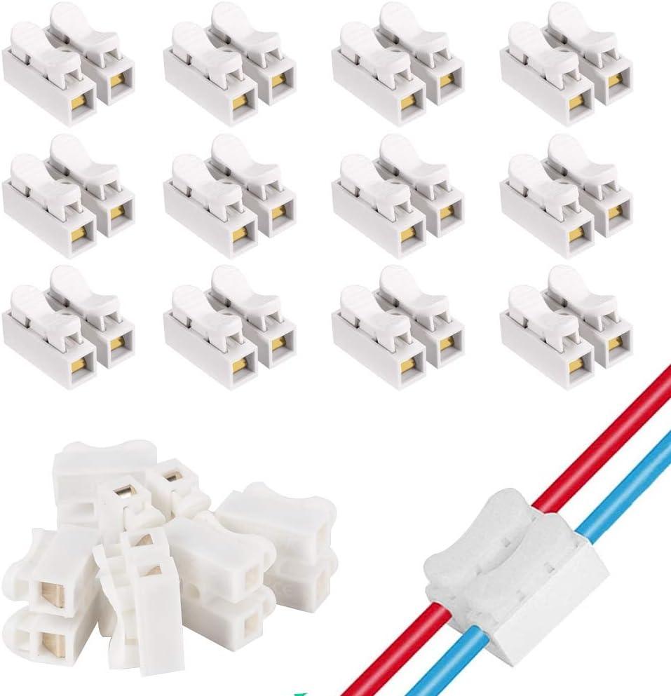 Kindpma 100 Stück Verbindungsklemmen Schnelle Kabel Zum Verbinden Schnelldrahtverbinder Beleuchtung Maschinen Und Kabelverbinder Baumarkt