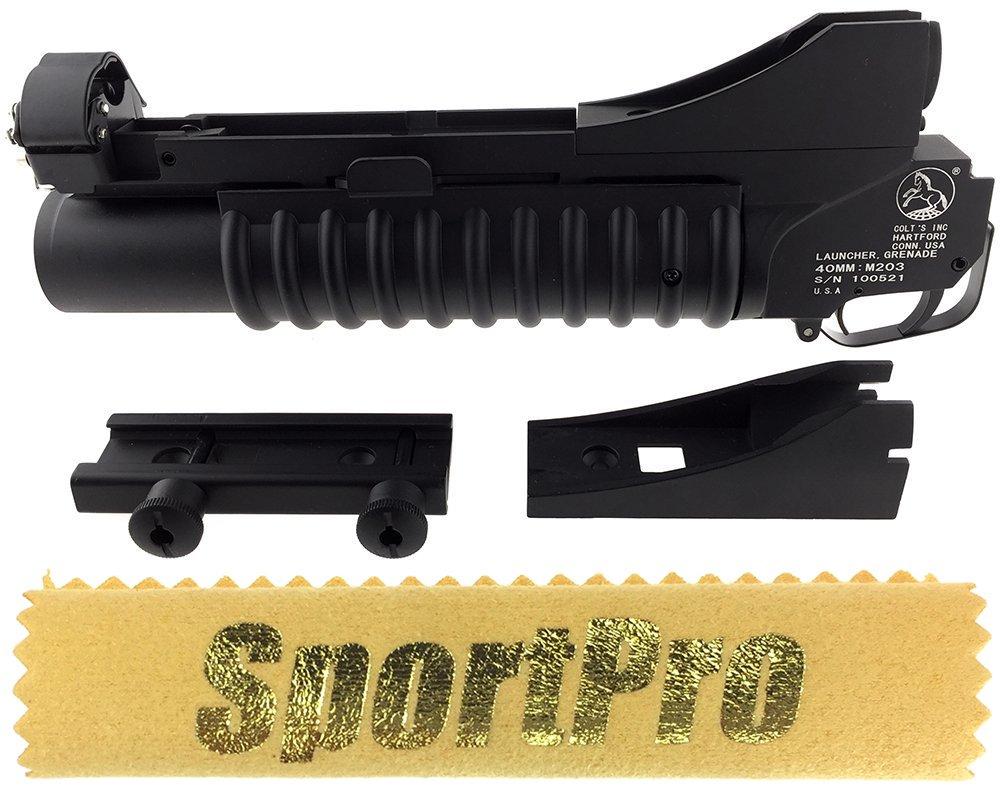 E&C製 046B 40mm 40mmカートリッジ用 M203タイプ ブラック 40mm 046B グレネードランチャー ショート メタル製 - ブラック B071KL7B6H, フジネットショップ:94cc3694 --- ijpba.info
