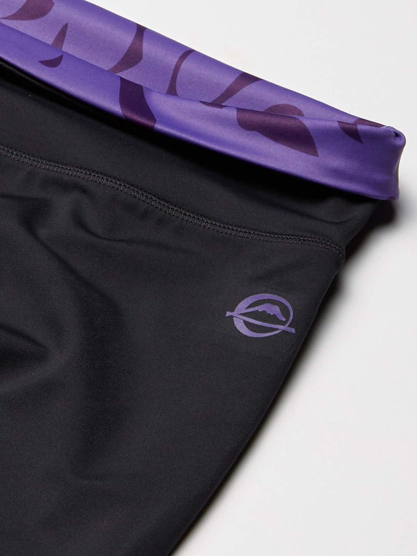 Large Black//Purple FUK78 Fuji Kayla Harrison Workout Tights