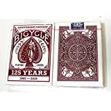 Bicycle 125th Anniversary Edition Deck Red (Discontinued) Playing Cards -1 Red Deck