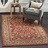 Safavieh Mahal Collection MAH699A Traditional Oriental Red and Natural Area Rug (5'1'' x 7'7'')