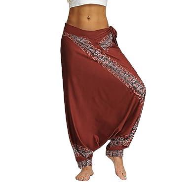 Darringls Pantalón de Yoga Mujer, Pantalones Bombacho Mujer ...
