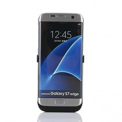 S7 edge Carcasa de batería, 5200 mAh cargador externo portátil de copia de seguridad recargable Power Pack para Samsung Galaxy S7 Edge
