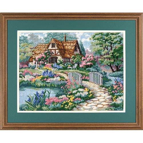 Dimensions Cottage Retreat Needlepoint Kit, 16'' W x 10'' -