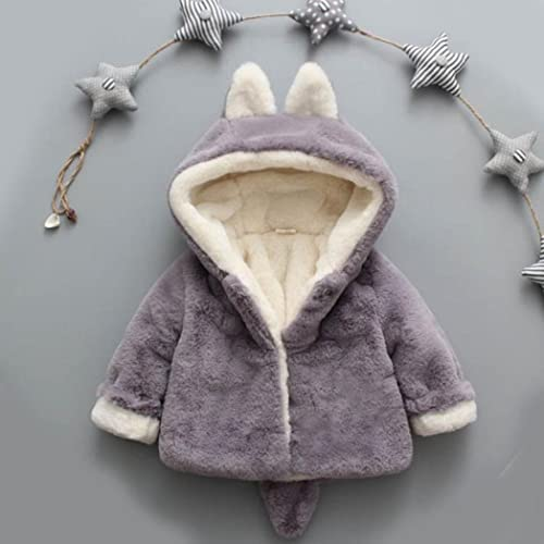 Wensltd Toddler Baby Girls Boys Autumn Winter Hooded Trench Coat Cloak Outerwear Jacket 12M Gray