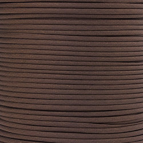 Paracord Planet 550 Cord Type III 7 Strand Paracord 20 Foot Hank - Walnut - 20' Walnut