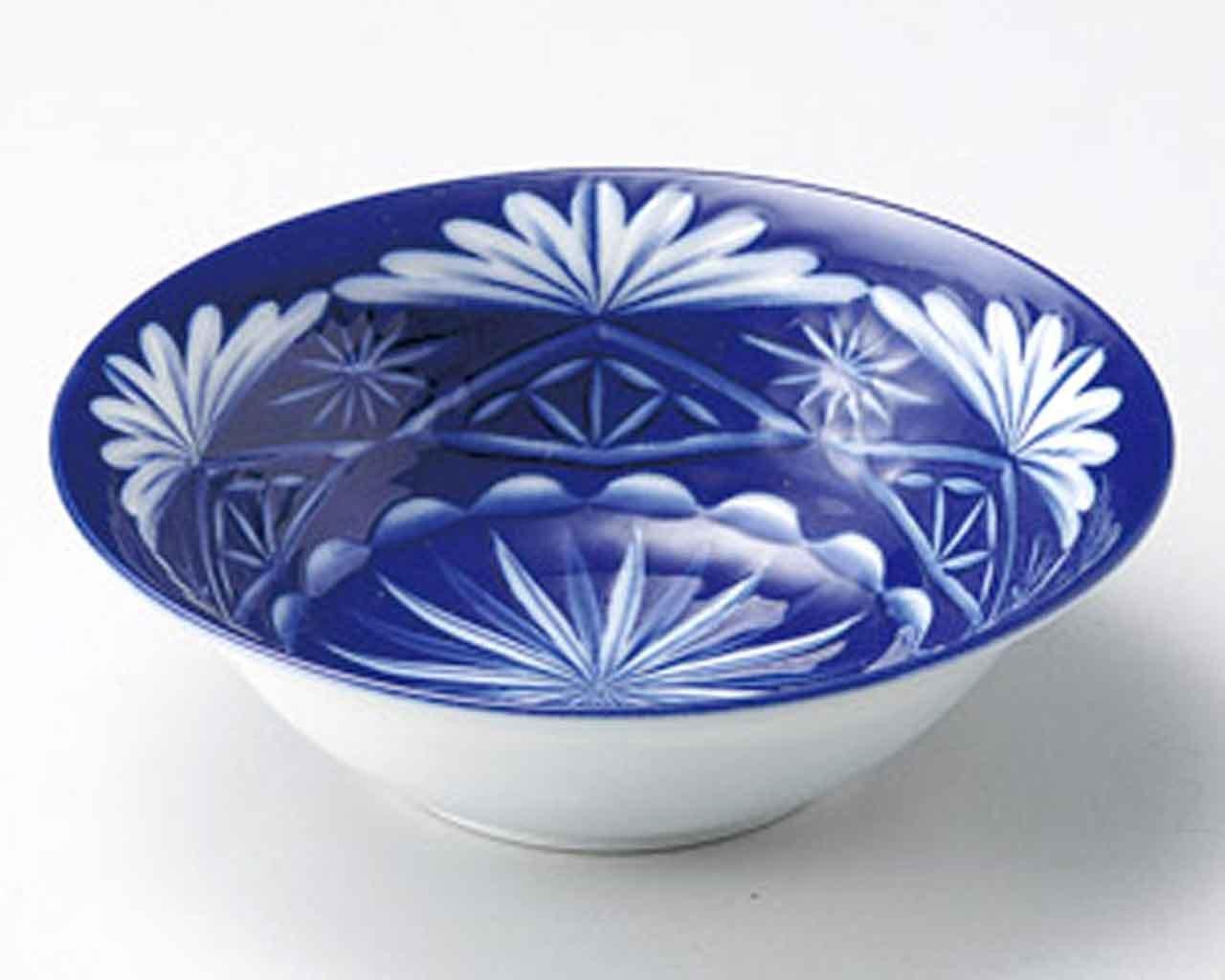Kiriko 5.7inch Medium Plate White porcelain Made in Japan