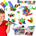 163 Piece STEM Toys Kit | Educational Construction Engineering Building Blocks Learning Set for Ages 3, 4, 5, 6, 7 Year Old Boys & Girls by Brickyard | Best Kids Toy | Creative Games & Fun Activities