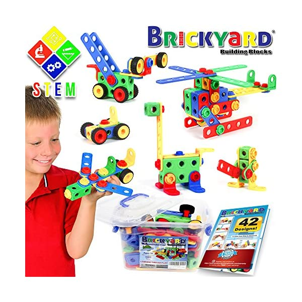 615gpCkakGL. SS600  - 163 Piece STEM Toys Kit, Educational Construction Engineering Building Blocks Learning Set for Ages 3 4 5 6 7 8 9 10…