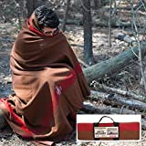 Mil-Spec Adventure Gear Plus MSA02-7957018000 Swiss Style Chestnut Blanket with Accent Stripes, Brown/Red
