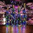 Bottle Led Lights, AGPtek Bottle Mini String Lighting 30in Copper Wire Cork Shape Light Starry Light for Wedding/Party/Decoration - RGB Multi Color