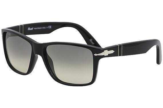 f22887b819c Amazon.com  Persol Mens Sunglasses Black Grey Plastic - Non-Polarized -  58mm  Clothing