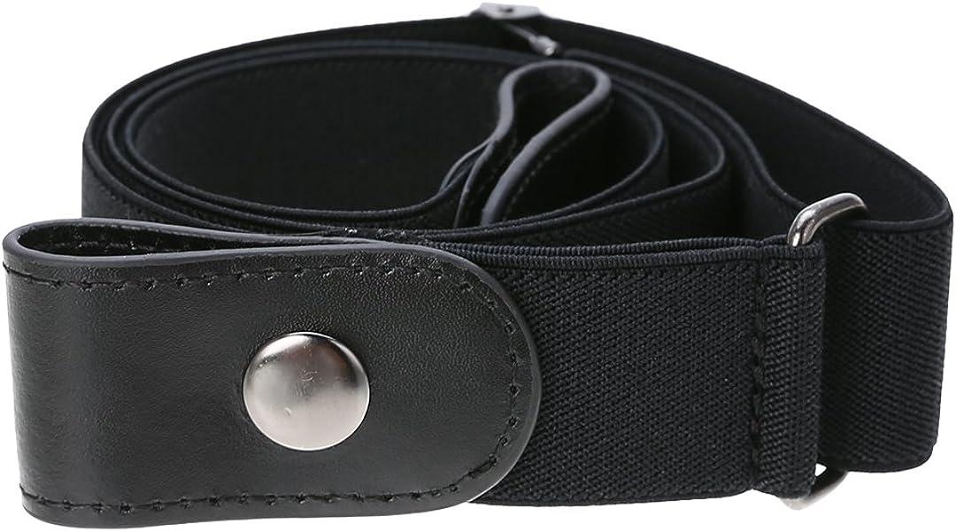 No Buckle Belt, Invisible No Bulge Stretch Elastic Waist Belt for Jeans Pants Dresses
