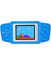 """Beico Handheld Game Console for Kids Built in 268 Classic Retro Video Games 2.5"""" Screen Portable Arcade Gaming Player System Boys Girls Birthday Gift (Blue)"""