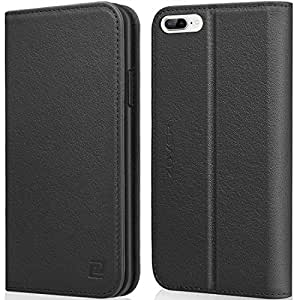 iPhone X Case ZOVER Detachable Genuine Leather Wallet Case With Auto Sleep/Wake Function Support Wireless Charging Magnetic Car Mount Holder Kickstand Feature Magnetic Closure Gift Box White