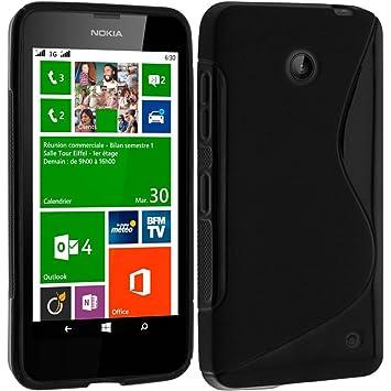 Avizar Carcasa Silicona Gel S-Line Negro para Nokia Lumia ...
