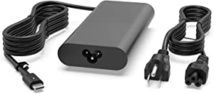 130W USB-C Charger Fit for Dell XPS 15 9500 9575 17 9700 Latitude 7410 7310 7210 9410 9510 5420 5520 5320 5510 5310 5410 2 in 1 Precision 5550 5750 3560 3550 3551 Power Supply Adapter Cord